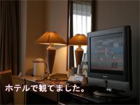 ホテルの部屋のテレビにて