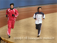 谷元選手とランニング