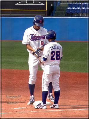 窪田選手、私と同じ身長だ。