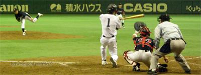 斎藤投手は頑張りました
