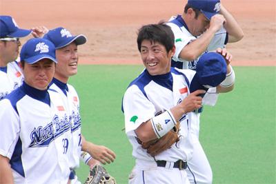 岩本選手の顔を初めて確認