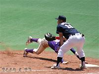 平野選手が代走